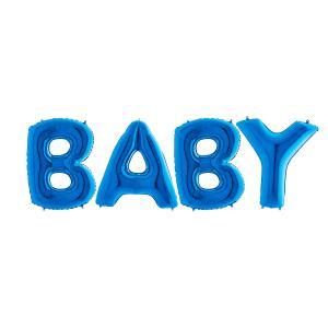 Ballonggirlang - BABY Blå 100 cm