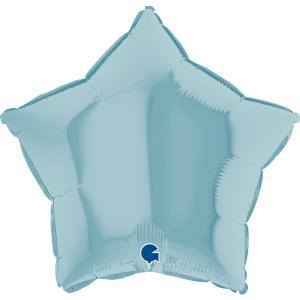 Folieballong - Stjärna Pastellblå 45 cm