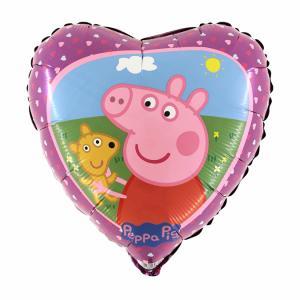 Folieballong - Greta Gris och Teddy 45 cm