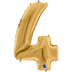 Ballongsiffra Gigant - Fyra Guld 164 cm