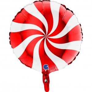 Swirly Vit-Röd 45 cm