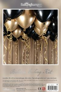 Balloon Ceiling Kit - Black & Gold