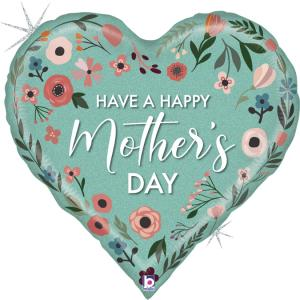 Folieballong - Mint Mothers Day Heart 76 cm