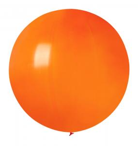 Latexballong - Orange Rund 80 cm