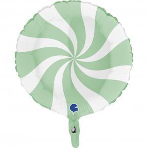 Swirly Vit-Matte Grön 45 cm