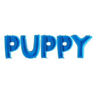 Ballonggirlang - PUPPY Blå 100 cm