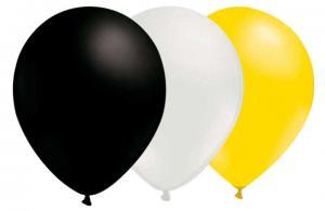 Svart, vit och gul ballonger