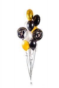 Ballongbukett - Happy Birthday Sparkling 50