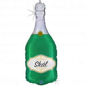 Folieballong - Champagneflaska Skål 91 cm