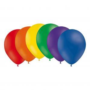 Latexballonger i regnbågens färger