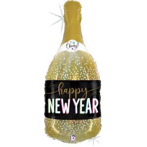 Folieballong - New Year Champagne Shape 91 cm