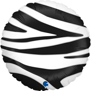 Folieballong - Zebra Striped 45 cm