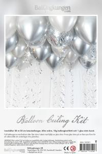 Balloon Ceiling Kit - Silver/Chrome
