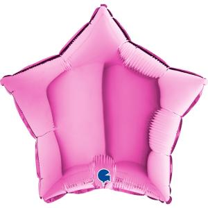 Folieballong - Stjärna Rosa 45 cm