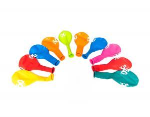 Sifferballonger Latex 50 - 10-pack