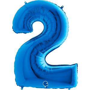 Sifferballong Två Blå