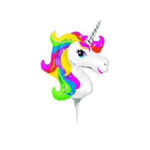 Folieballong Mini - Unicorn Rainbow Mini Shape