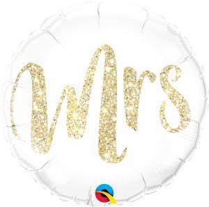 Folieballong - MRS. Glitter Gold 45 cm