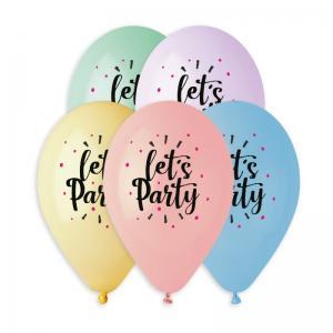 Latexballonger Premium - Let´s Party 33 cm 5-pack