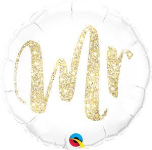 Folieballong - MR. Glitter Gold 45 cm