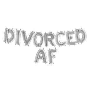 Ballonggirlang - DIVORCED AF Silver 35 cm