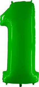 Ballongsiffra - Ett Lime Shiny 100 cm