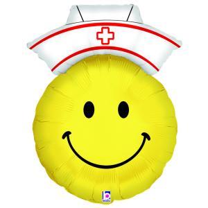 Folieballong - Smiley Nurse 71 cm