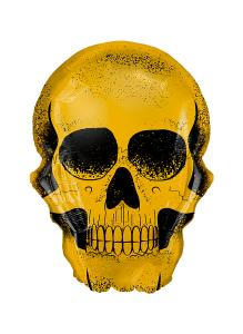 Folieballong - Golden Skull Shape