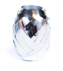 Ballongsnöre - Metallic Silver 20 m * 7 mm