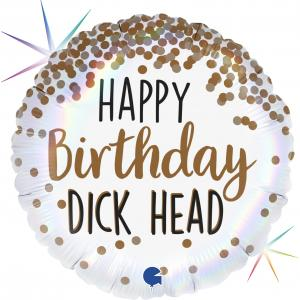 Folieballong - Happy Birthday Dick Head