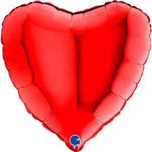 Rött foliehjärta