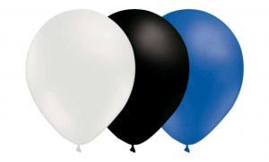 Ballongkombo - Vit-Svart-Blå 15-pack