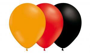 Ballongkombo - Röd-Mandarin-Svart 15-pack