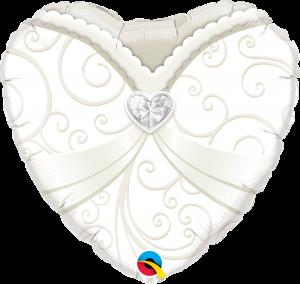 Folieballong - Bröllopsballong 45 cm
