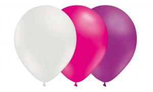 Ballongkombo - Vit-Magenta-Ljuslila 15-pack