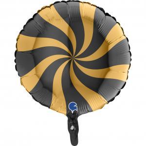 Swirly Guld-Svart 45 cm