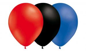 Ballongkombo - Röd-Svart-Blå 15-pack