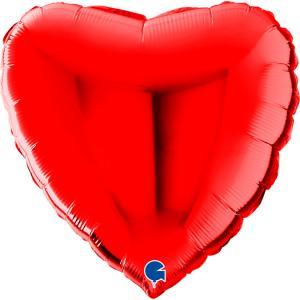 Folieballong - Hjärta Rött 56 cm