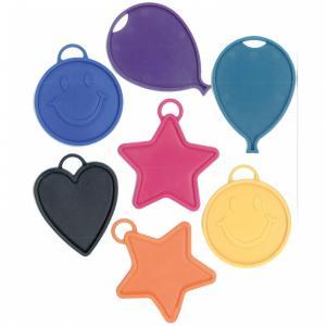 Ballongtyngder - Färgad plastfigur 17g - Styckevis