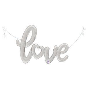 Folieballong - Love Script Silver