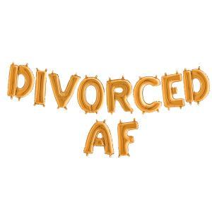 Ballonggirlang - DIVORCED AF Guld 35 cm