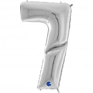Ballongsiffra Gigant - Sju Silver 164 cm