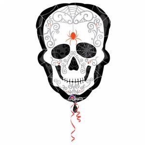 Dödskalle-ballong
