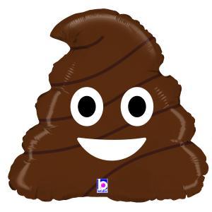 Folieballong - Emoji Poo
