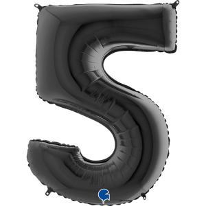 Sifferballong Fem Svart