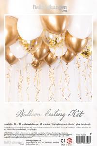 Balloon Ceiling Kit - Gold/Chrome