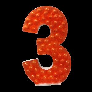 Ballongform - Nummer 3 - 120 cm