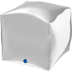 Folieballong - Square Silver 38 cm