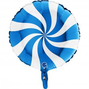 Swirly Vit-Blå 45 cm
