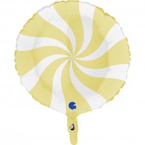 Swirly Vit-Matte Gul 45 cm